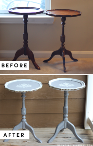 thrifted-pedestal-table-makeover-before-and-after-upcycledtreasures